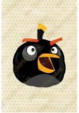 Фигура Angry Birds (черная)