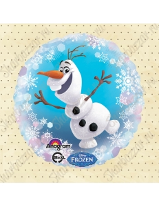 Круглый шар Снеговик Олаф