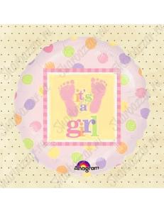 """Круглый шар """"It's a Girl (пяточки)"""""""