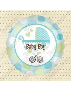 Круглый шар с коляской (для мальчика)