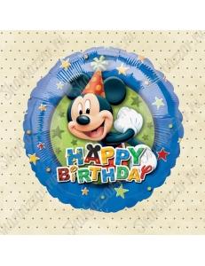 Круглый шар Микки С Днем Рождения!