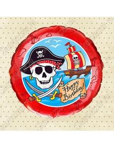 Круглый шар С Днем Рождения, Пират!